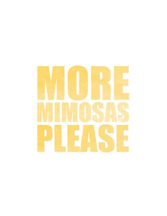 Peach Mimosas