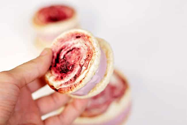meringue ice cream sandwich