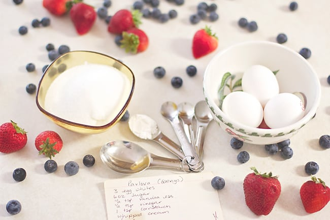 Pavlova- this super simple recipe shows you step by step how to make pavlova from someone who has been making it for 30 years! Everyone will absolutely love this dessert!