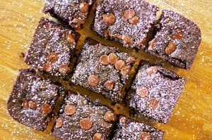 Zucchini Wheat Brownies
