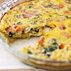 Zucchini Crust Quiche