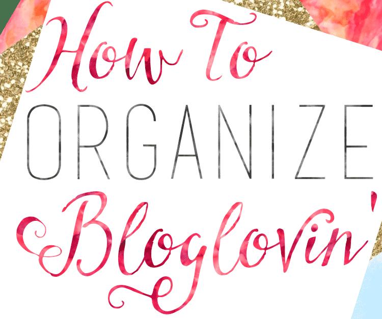 Organize Bloglovin