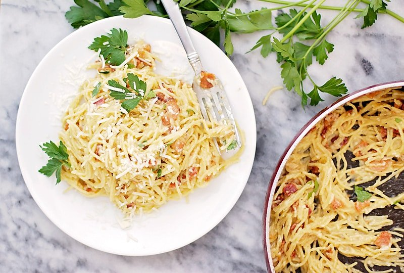 Quinoa Pasta Carbonara