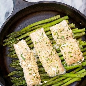 One Pot Salmon and Asparagus