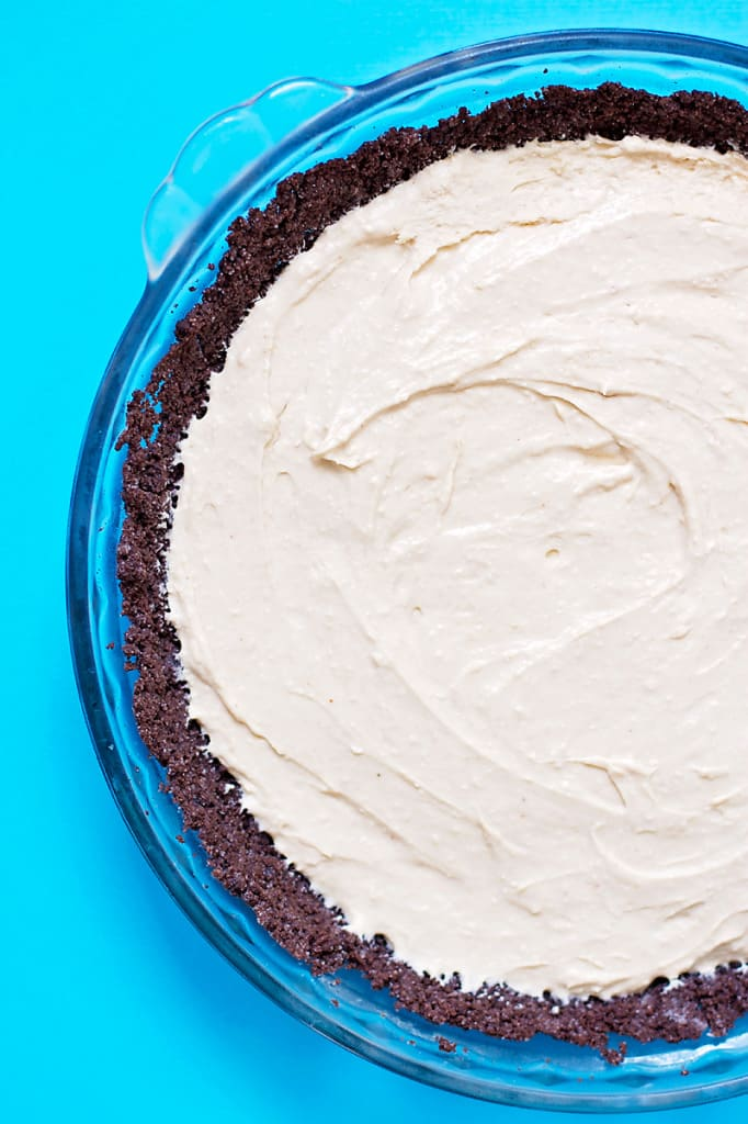 No-Bake Peanut Butter Pie- this NO BAKE pie is SUPER easy to make and one that will have everyone asking you for the recipe! │ bbritnell.com