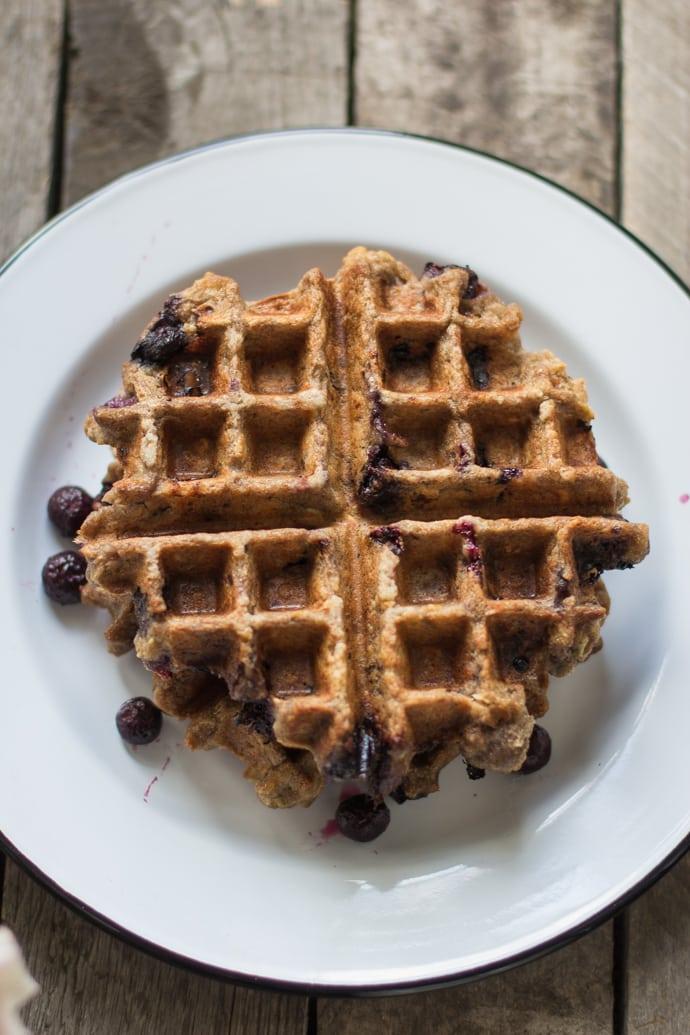 Blueberry Oatmeal Waffles-10