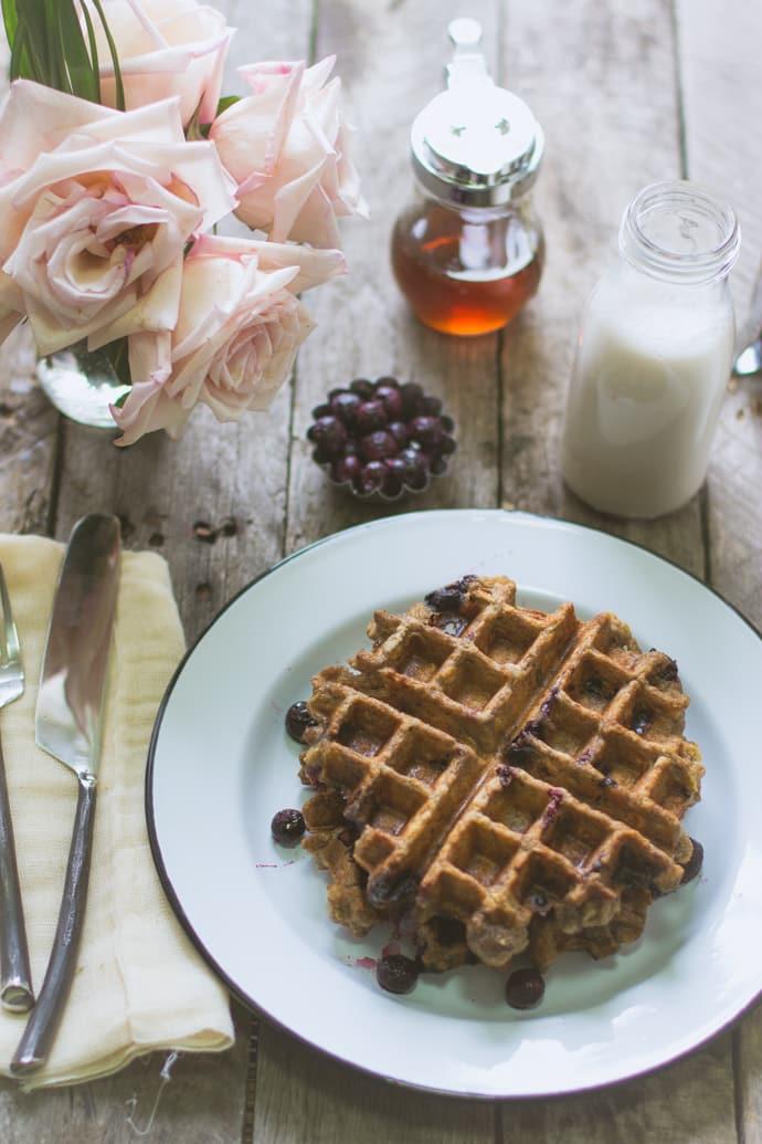 Blueberry Oatmeal Waffles-11