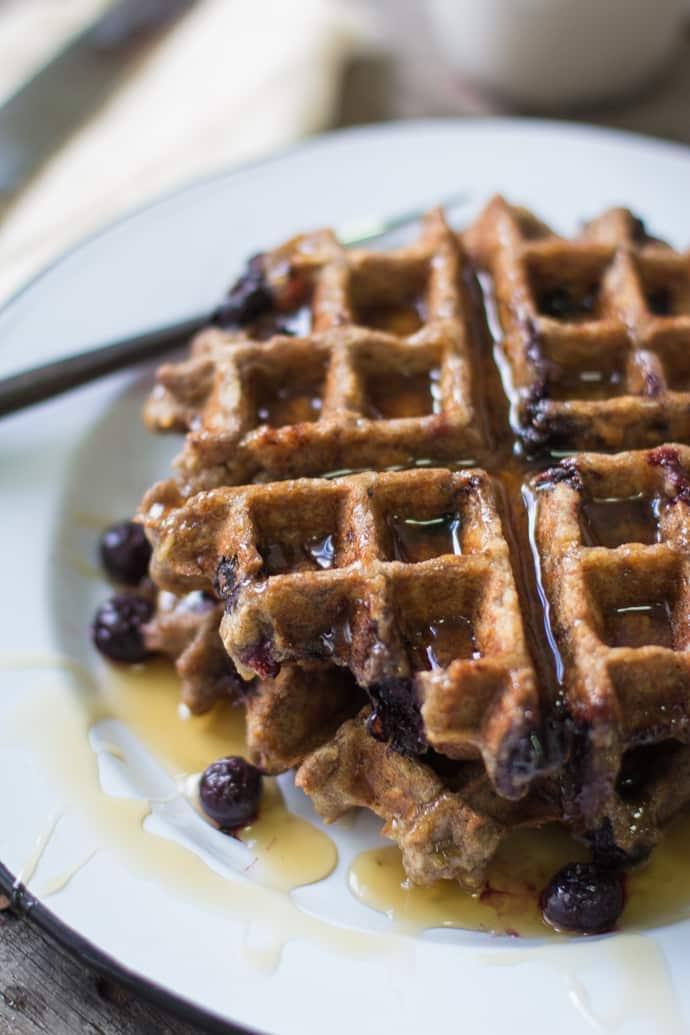 Blueberry Oatmeal Waffles-16