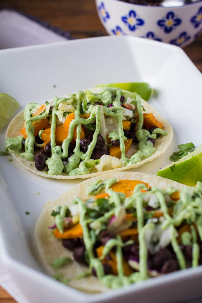 Sweet Potato Black Bean Tacos-10