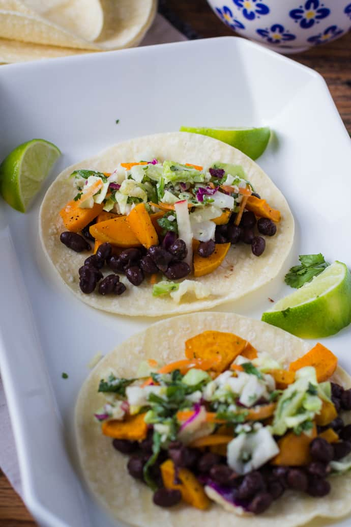 Sweet Potato Black Bean Tacos-9
