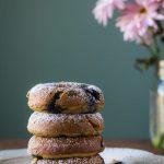 Coconut Flour Blueberry Donuts