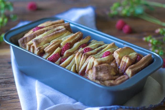 Cinnamon Raspberry Pull Apart Bread-13