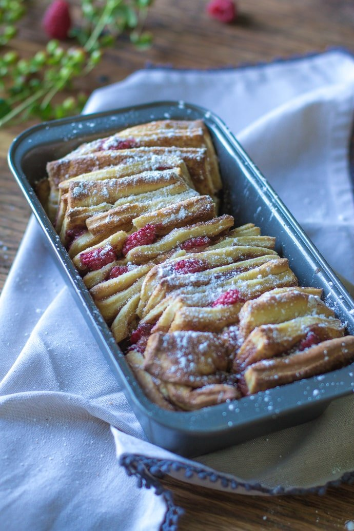 Cinnamon Raspberry Pull Apart Bread-16