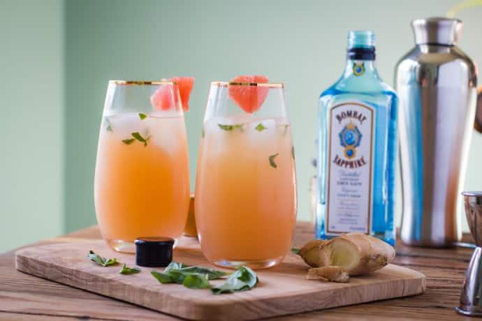 Zorra Cocktail Ginger Basil Grapefruit-7