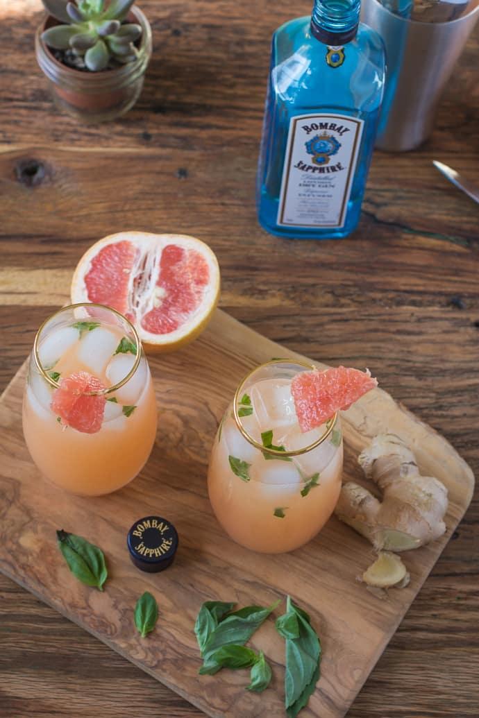Zorra Cocktail Ginger Basil Grapefruit-9