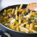 One Skillet Butternut Squash & Sausage Pasta