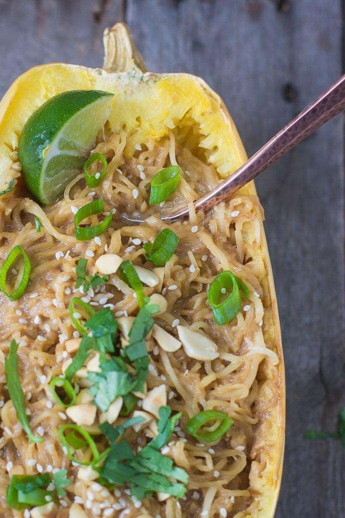spaghetti squash soy-peanut noodles-9