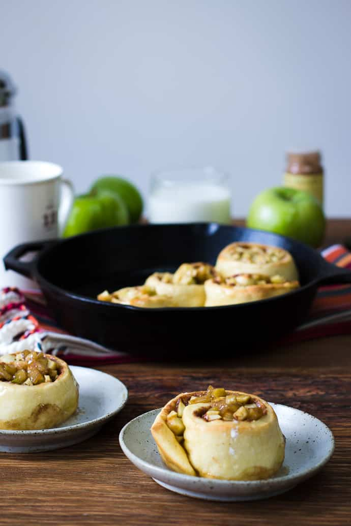 Apple Pie Cinnamon Rolls-17