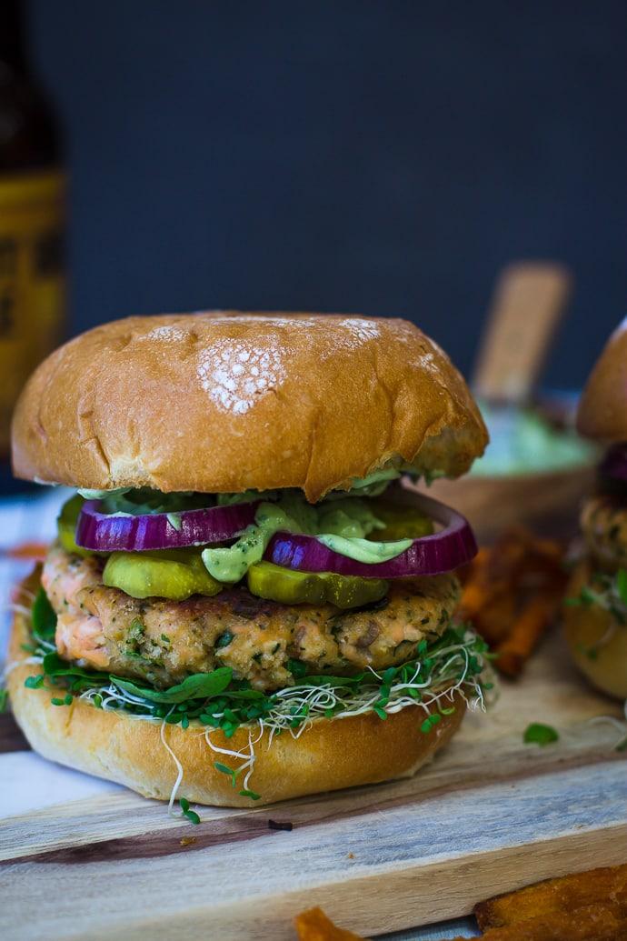 Cilantro Lime Salmon Burger-12
