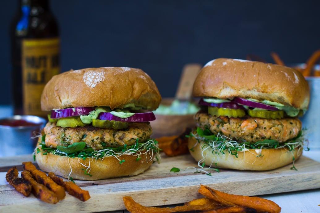 Cilantro Lime Salmon Burger-19