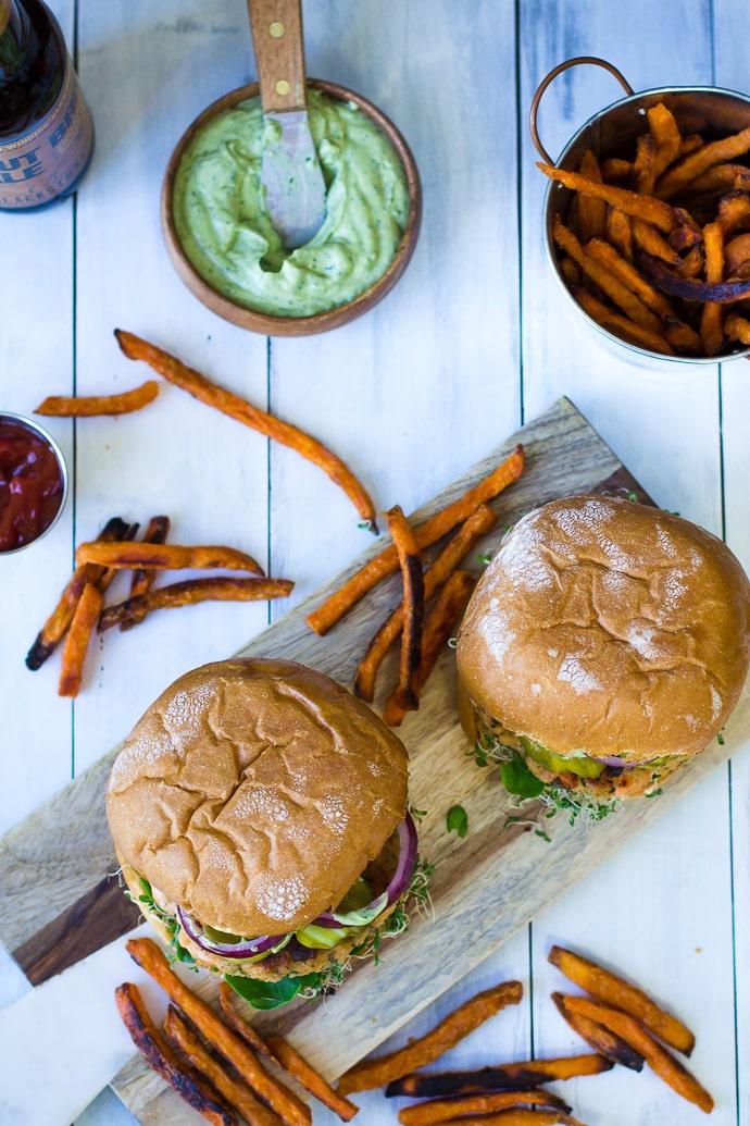Cilantro Lime Salmon Burger-22