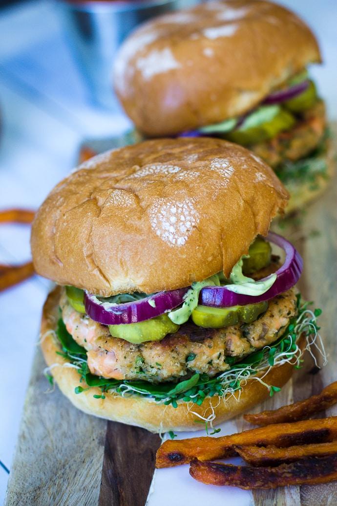 Cilantro Lime Salmon Burger-23
