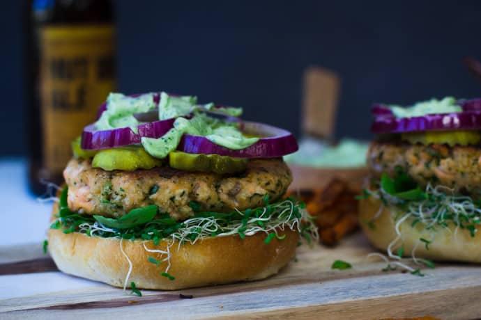 Cilantro Lime Salmon Burger-9