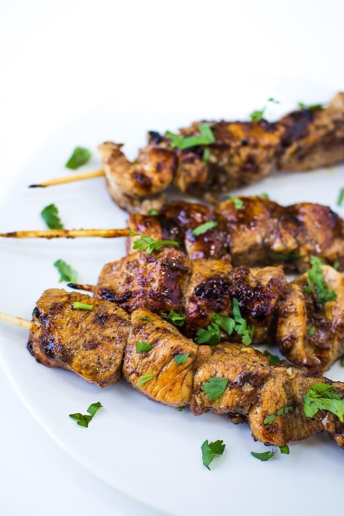 honey balsalmic chicken skewers-2