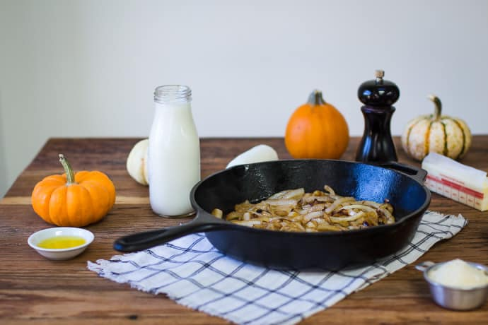 Pumpkin & Goat Cheese Macaroni- this recipe is super simply and a great autumnal twist on the families favorite dish!   bbritnell.com