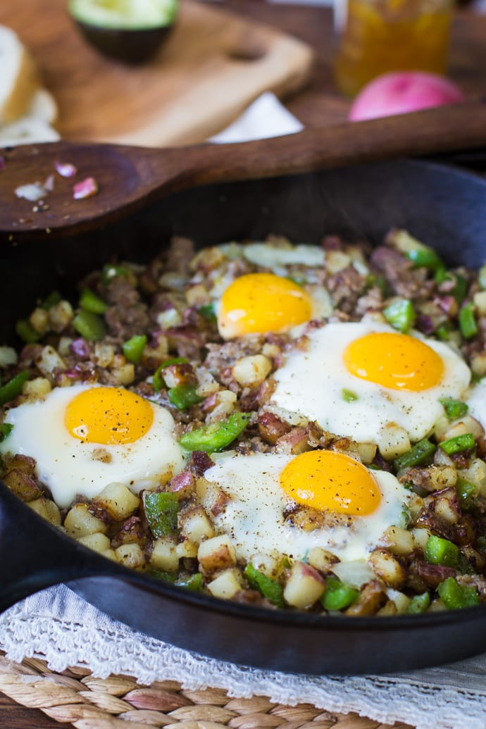 Red Potato Skillet Hash- this recipe is super simple to make and the ...