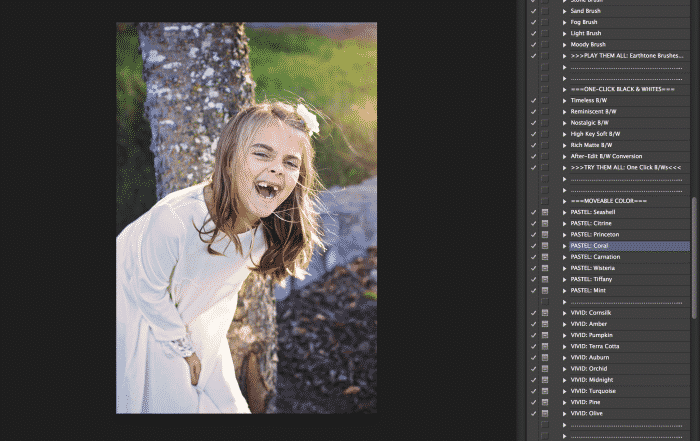 Edit BEAUTIFUL photos in Photoshop using the Greater Than Gatsby Photoshop Actions. The Innocence Collection makes editing family and children photos quick and easy!