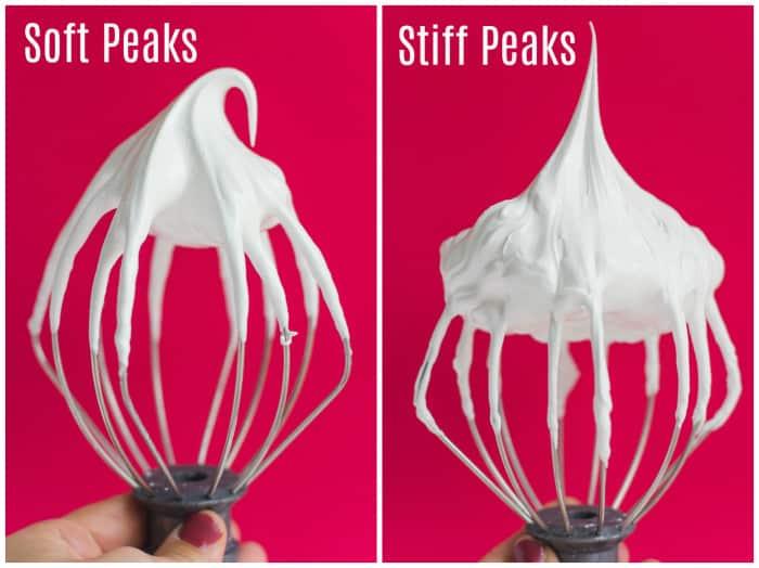 soft peaks vs stiff peaks meringues