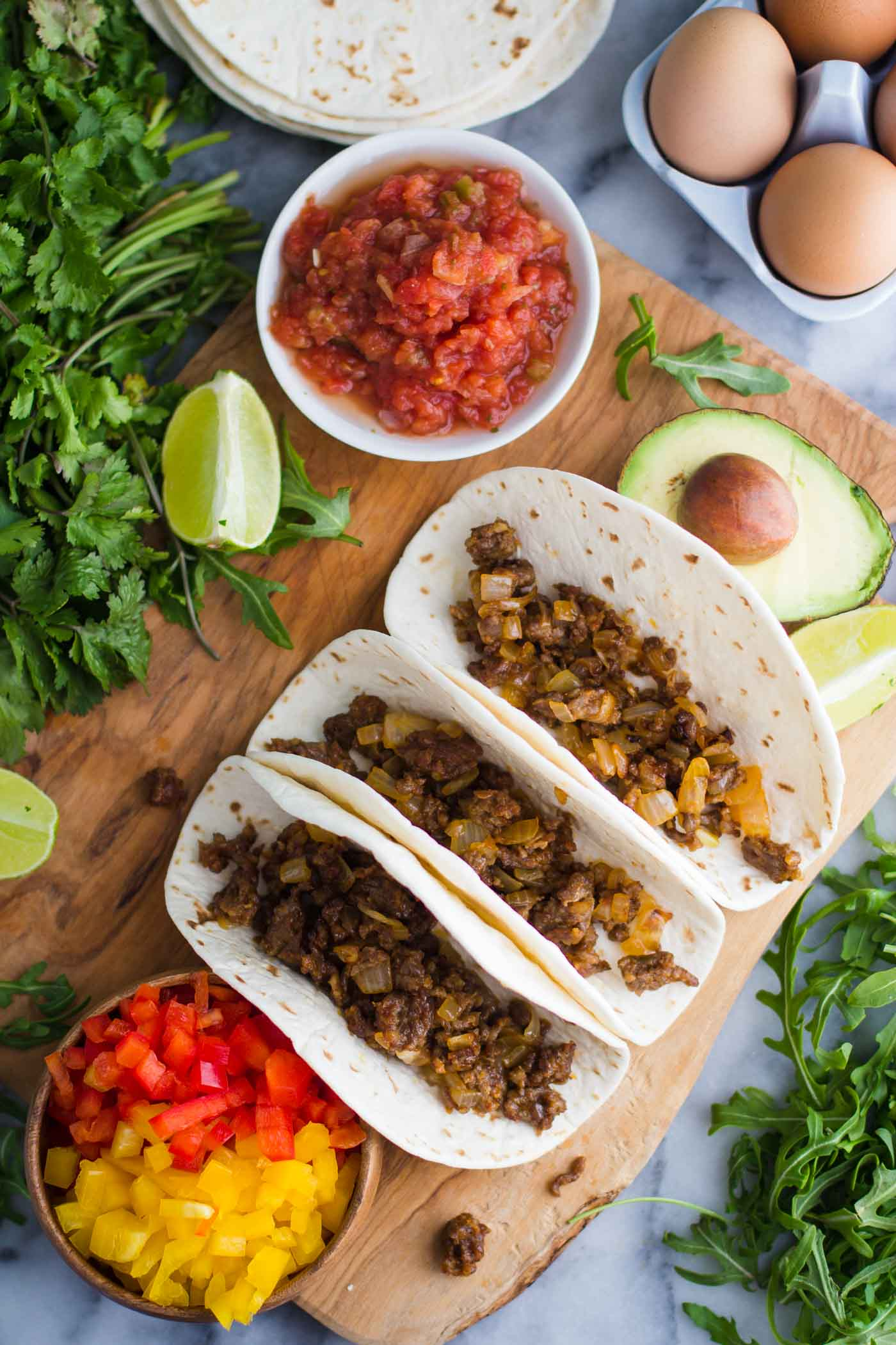 Breakfast Tacos | Recipe from Bbritnell.com