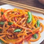 Sweet Potato Pasta Lo Mein