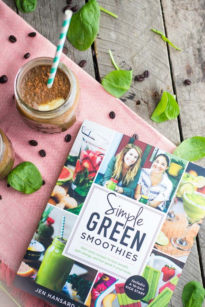 Mocha Green Smoothie- perfect for a healthy breakfast so that you can get your daily dose of coffee, fruit, AND greens all in one yummy smoothie!