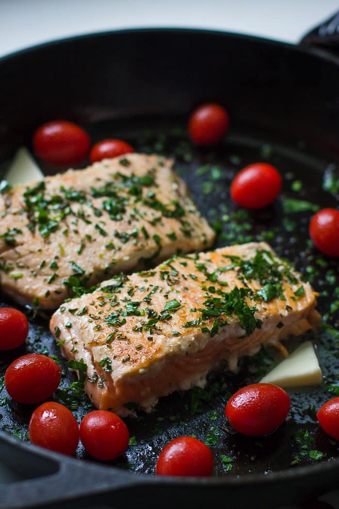 Seared Herb Salmon- this recipe is very easy to make, healthy, and sure to be enjoyed by the whole family!!