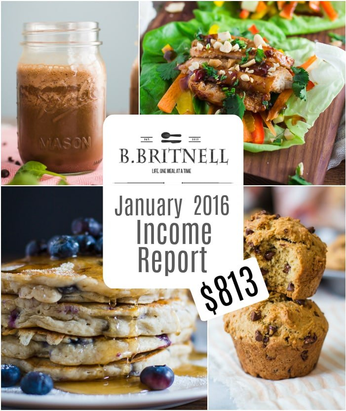 Traffic & Income Report for BBritnell.com- How I made over $800 on my blog in January 2016