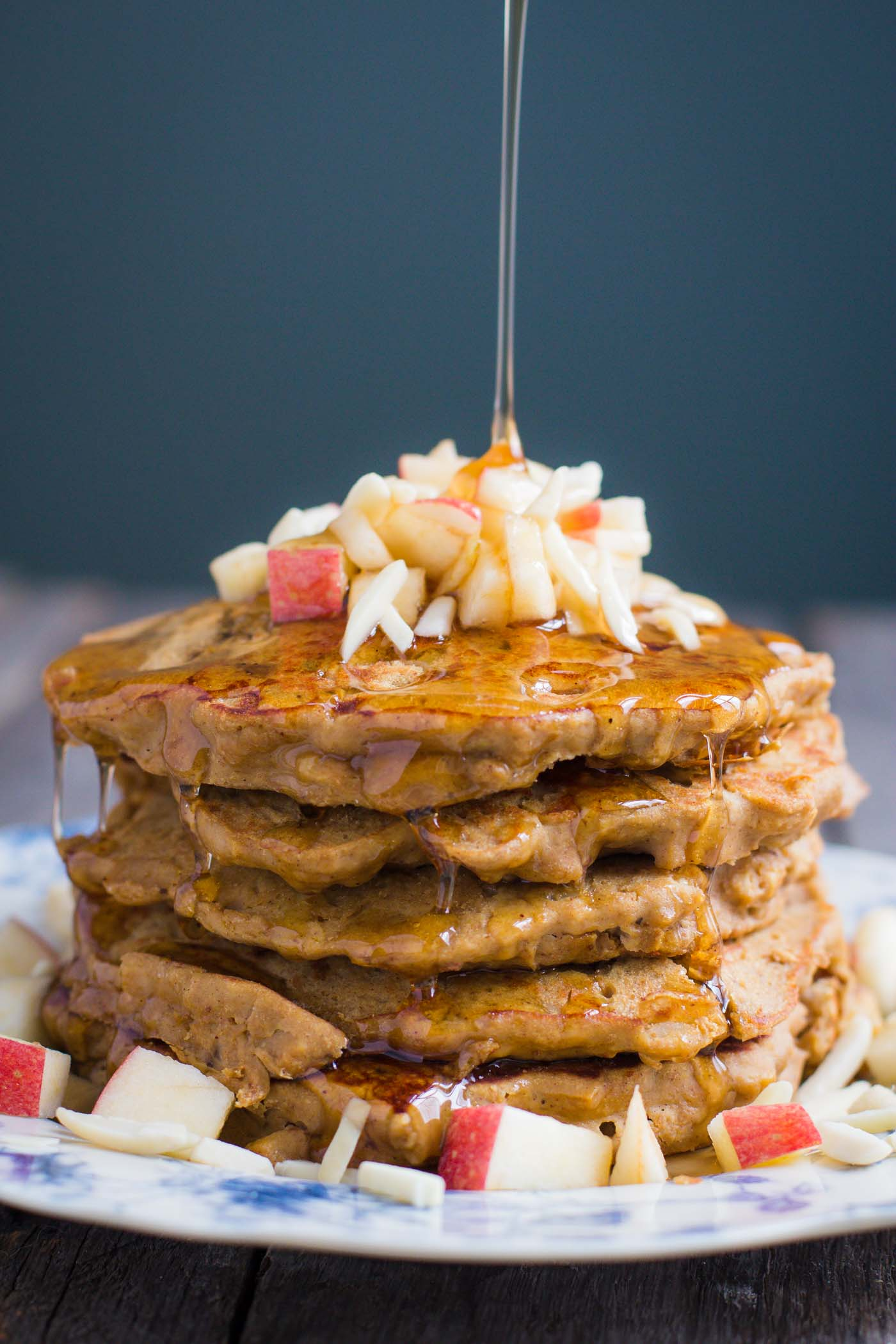 Apple cinnamon protein pancakes food with feeling apple cinnamon protein pancakes these are gluten free easy to throw together ccuart Gallery