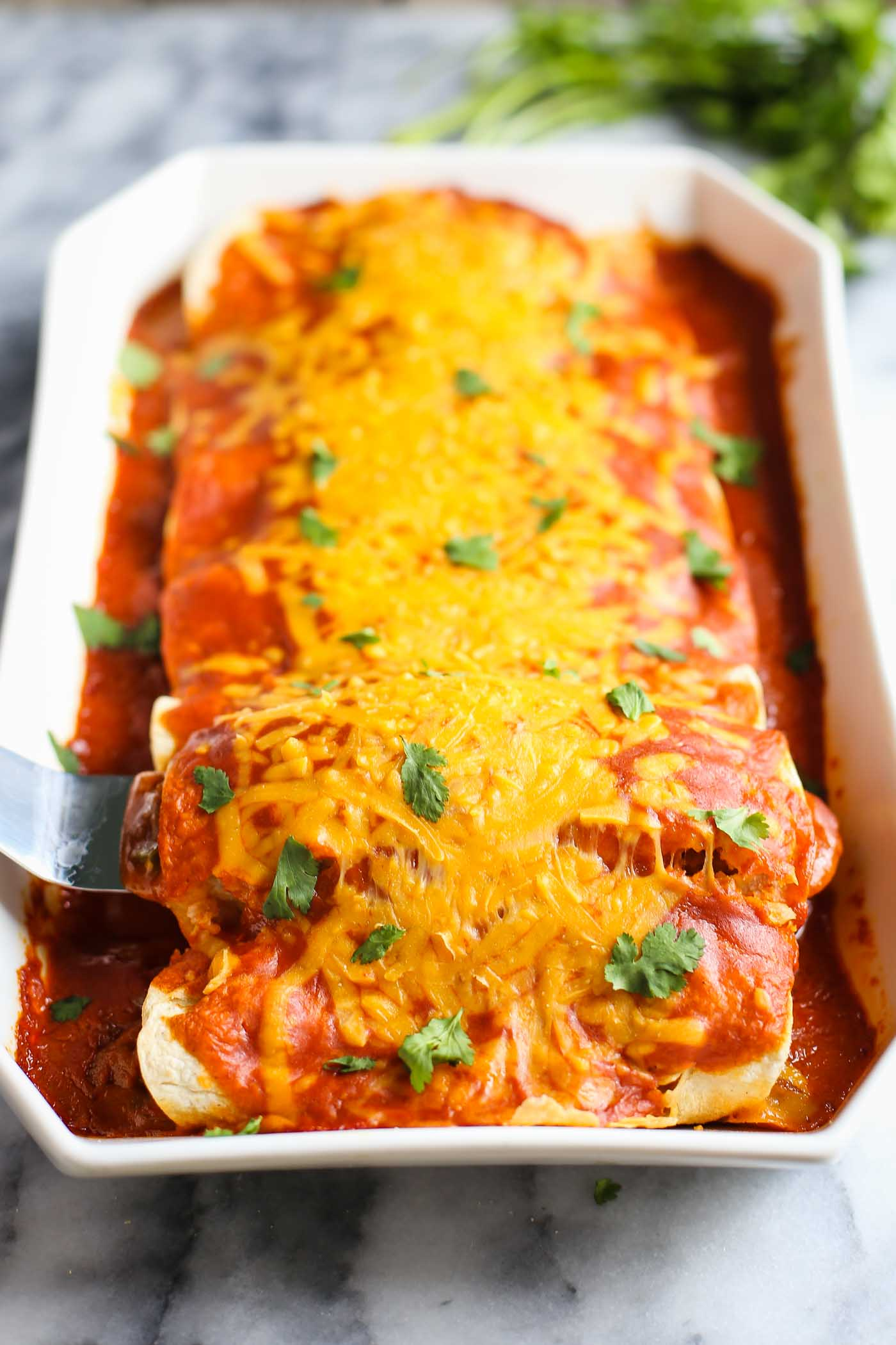 Veggie VEGAN Enchiladas- this enchilada recipe is packed with flavor and nutritous veggies and SURE to please the whole family!