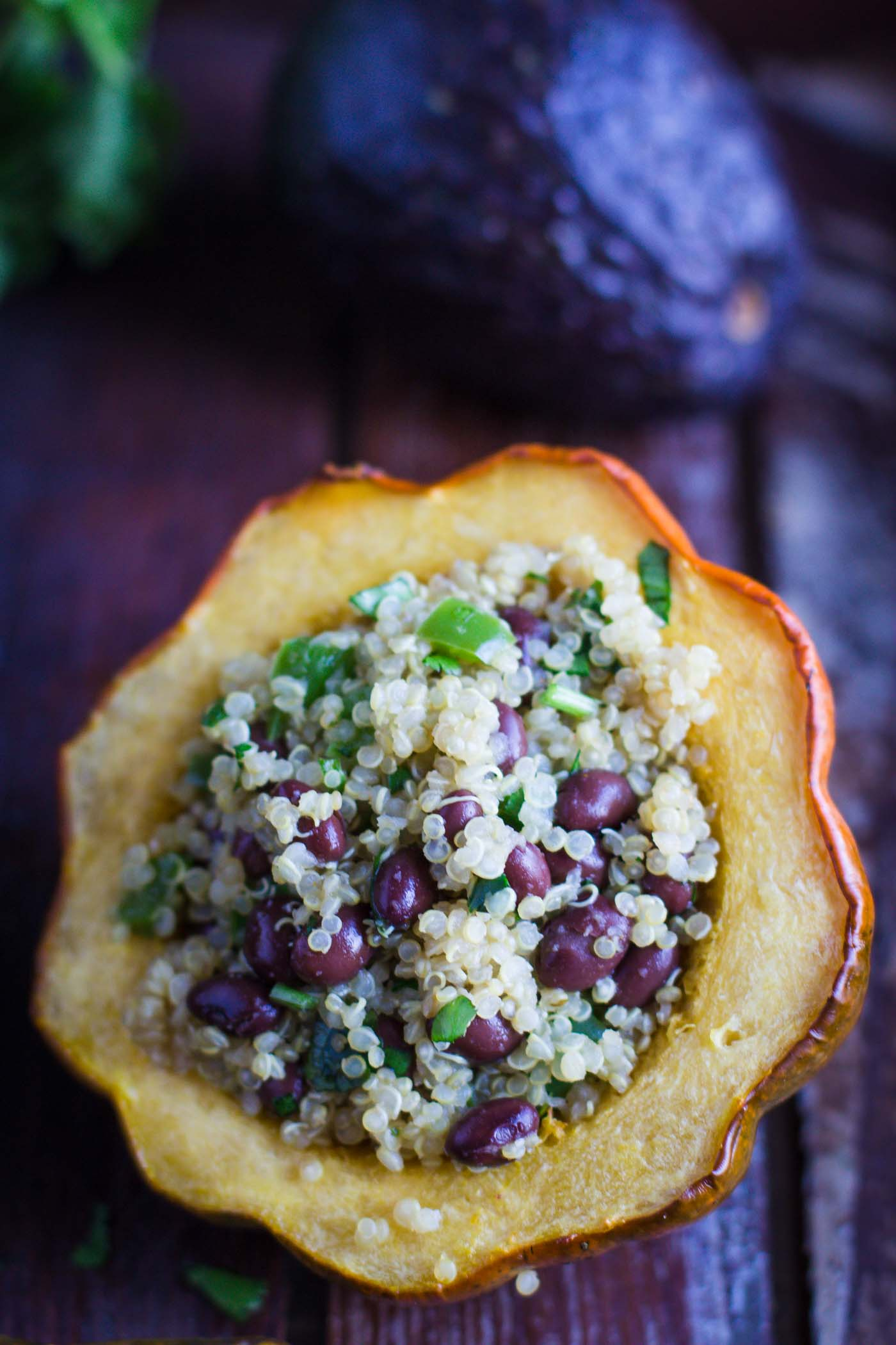 Quinoa Stuffed Acorn Squash Food With Feeling