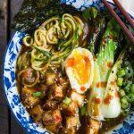 Zucchini Noodle Ramen Soup