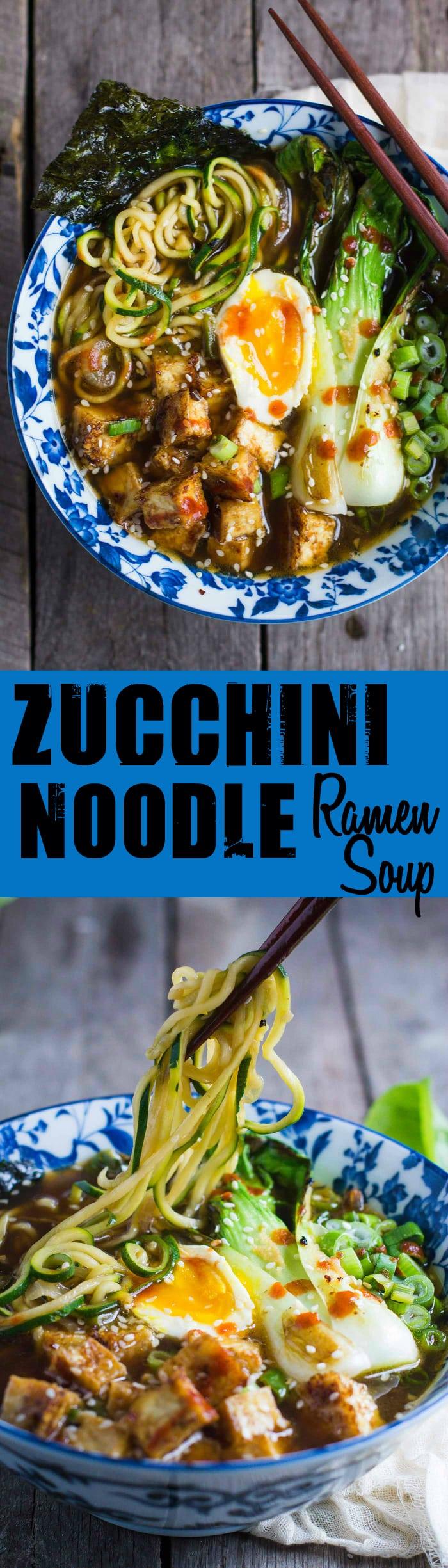 Zucchini Noodle Ramen Soup Long