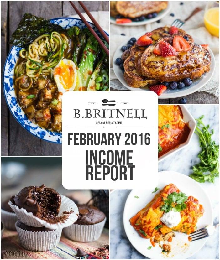 February 2016 Income Report