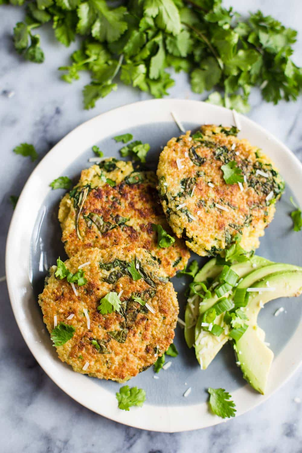 Kale & Quinoa Patties- this recipe is easy to throw together and a nice heathy dinner option to please the whole family!