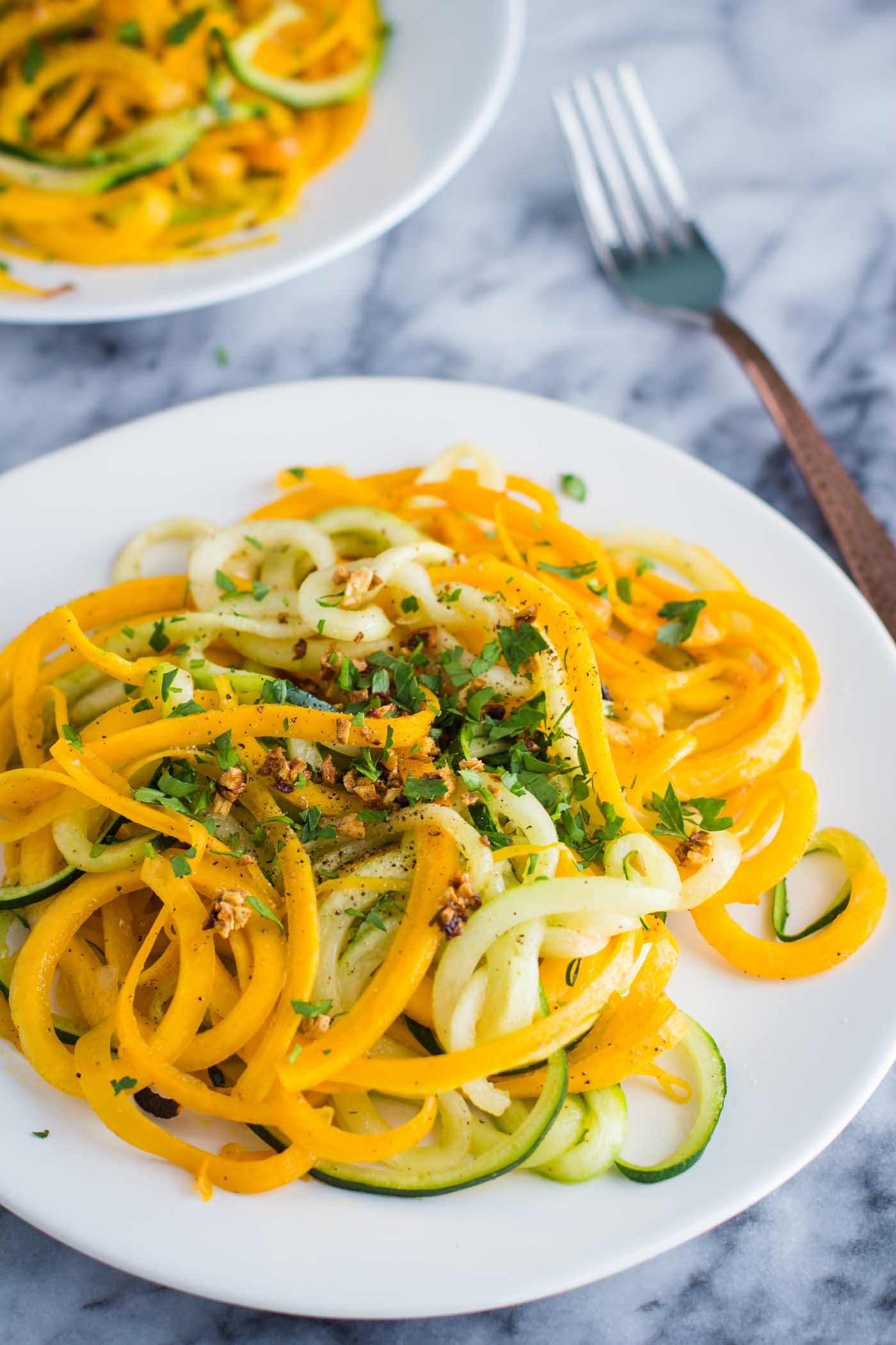 Garlic Herb Spiralized Veggies B Britnell