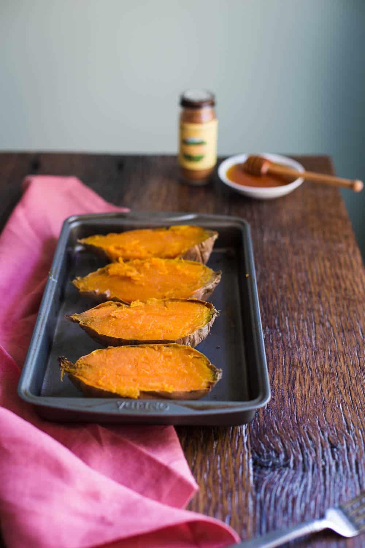 Breakfast Baked Sweet Potato recipe- why don't more people eat sweet potatoes for breakfast!!? | BBritnell.com
