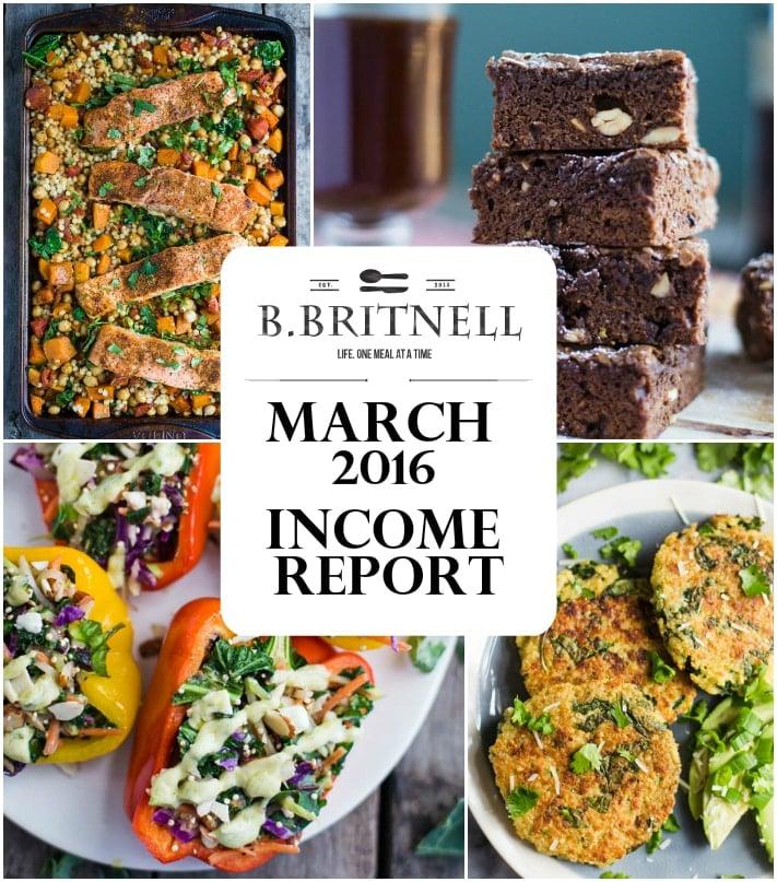 March Income Report 2016