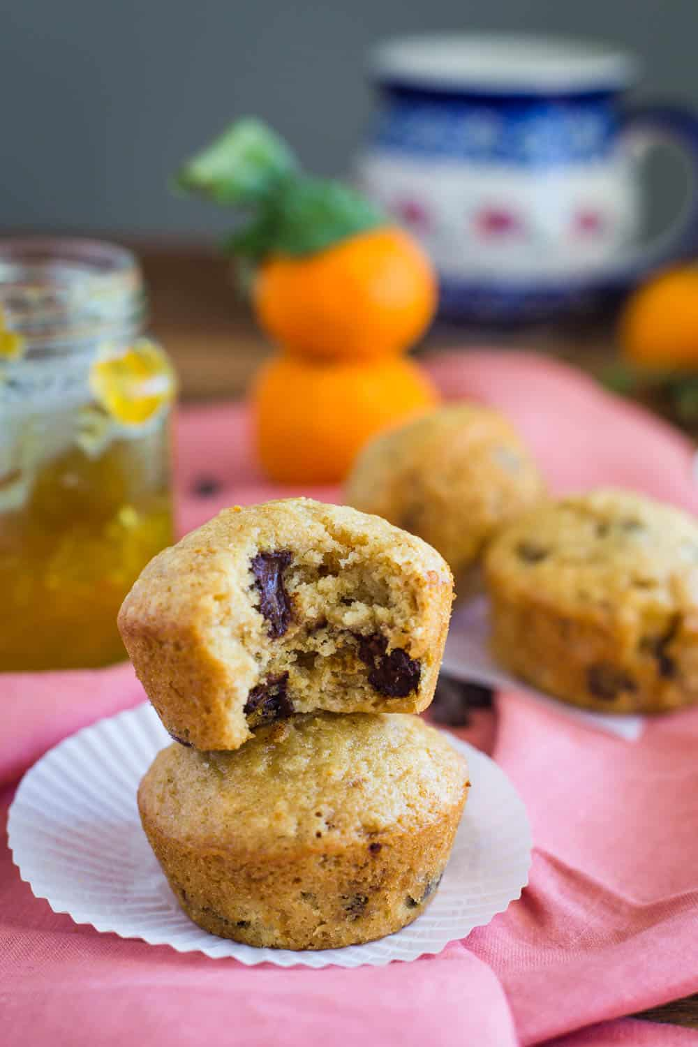Orange Marmalade Vegan Muffins with chocolate chips- SO yummy and simple to make!