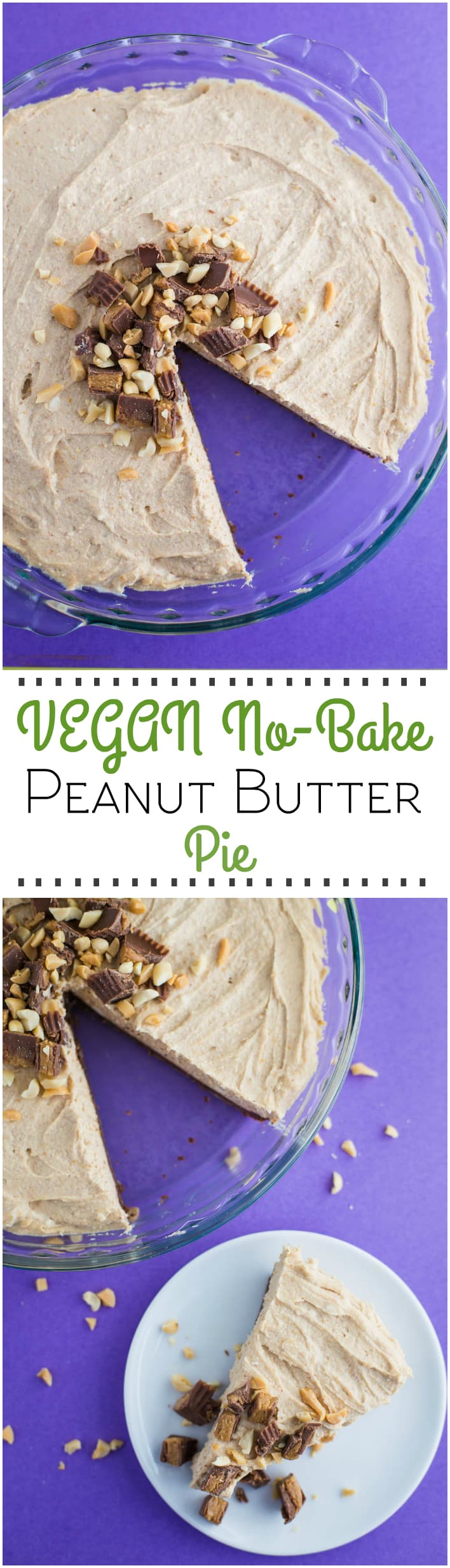 Vegan No Bake Peanut Butter Pie