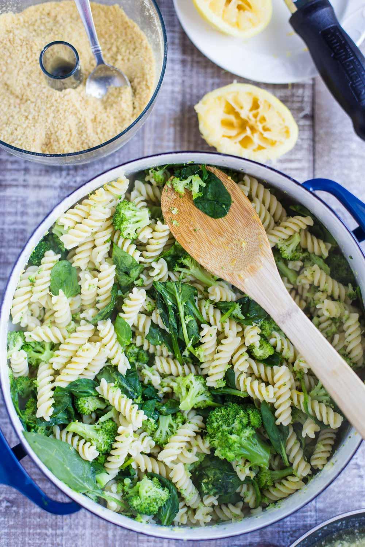 Vegan Lemon Broccoli Pasta Salad Food With Feeling